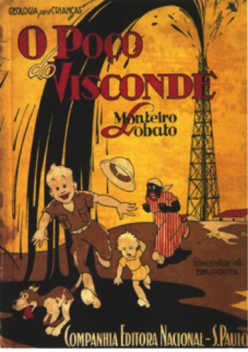 Cover (first edition, 1937) of Monteiro Lobato' children book The Viscount's well in favor of national oil policy
